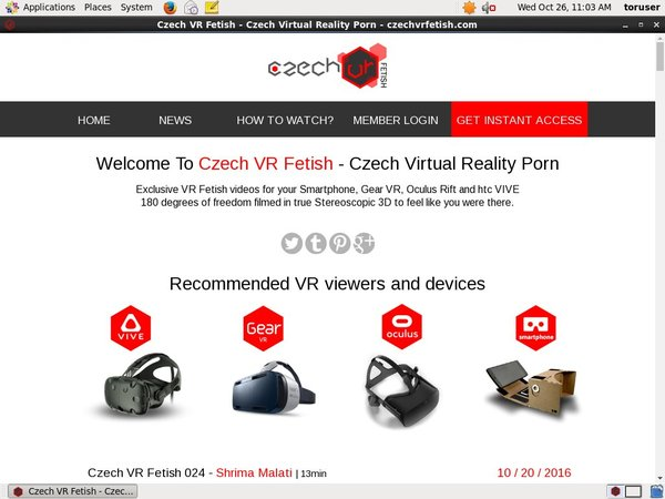 Czechvrfetish.com Paypal Offer